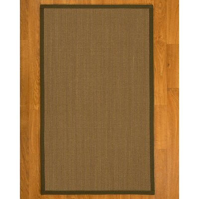 Asther Hand-Woven Brown Area Rug Rug Size: Rectangle 5 X 8