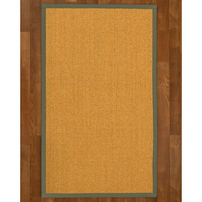 Pritzker Hand Woven Yellow Area Rug Rug Size: Rectangle 3' X 5'