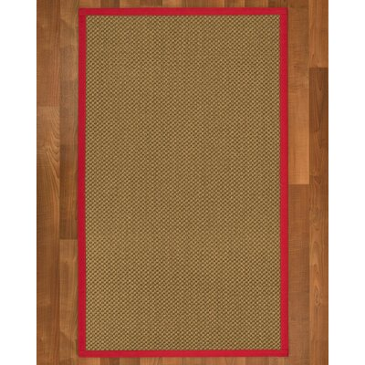 Loehr Hand Woven Brown Area Rug Rug Size: Rectangle 4 X 6