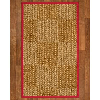 Adley Sisal Red Area Rug Rug Size: 6 X 9