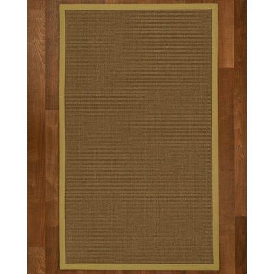 Aderyn Hand-Woven Brown Area Rug Rug Size: Rectangle 6 X 9