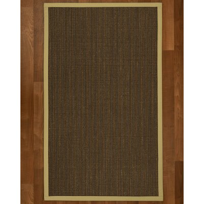 Hedlund Hand Woven Brown Area Rug Rug Size: Rectangle 6' X 9'