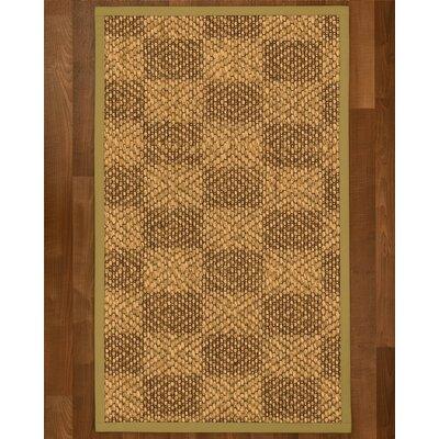 Hearne Sisal Khaki Area Rug Rug Size: 9 X 12