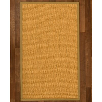 Pritzker Hand Woven Yellow Area Rug Rug Size: Rectangle 12 x 15