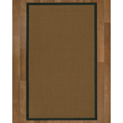 Aderyn Hand-Woven Brown Area Rug Rug Size: Rectangle 3' X 5'