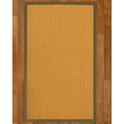 Pritzker Hand Woven Yellow Area Rug Rug Size: Rectangle 9 X 12