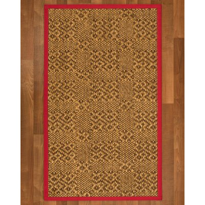 Camile Sisal Red Area Rug Rug Size: 2 X 3