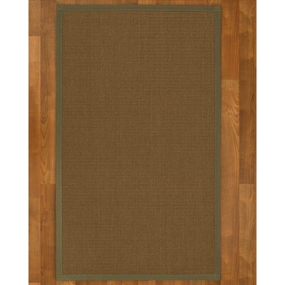 Aderyn Hand-Woven Brown Area Rug Rug Size: Rectangle 3 X 5