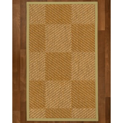 Adley Hand Woven Beige/Brown Area Rug Rug Size: Rectangle 2' X 3'
