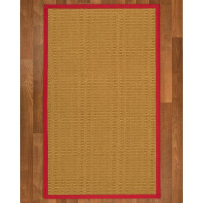 Coleridge Sisal Red Area Rug Rug Size: 2 X 3