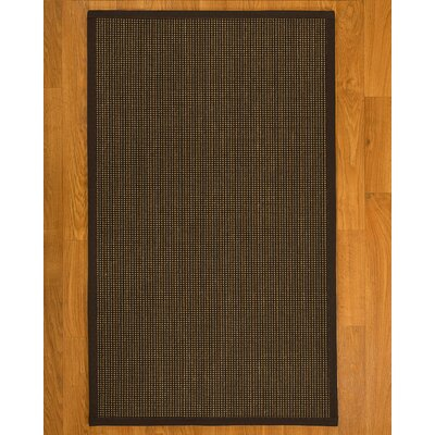 Hedlund Hand Woven Brown Area Rug Rug Size: Rectangle 4 X 6