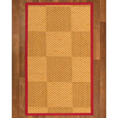 Luhrmann Sisal Red Area Rug Rug Size: 2 X 3