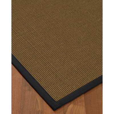 Aderyn Hand-Woven Brown Area Rug Rug Size: Rectangle 4 X 6