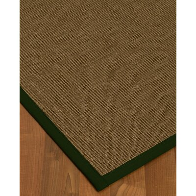 Aderyn Hand-Woven Brown Area Rug Rug Size: Rectangle 5 X 8