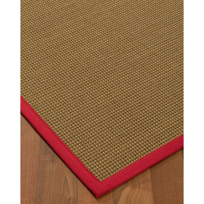 Asther Sisal Red Area Rug Rug Size: 4 X 6