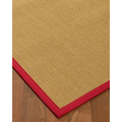 Lanie Hand-Woven Beige Area Rug Rug Size: Rectangle 8 X 10