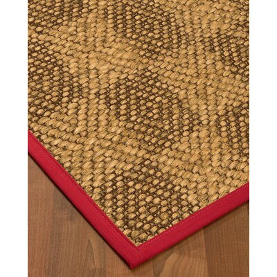 Hearne Sisal Red Area Rug Rug Size: 2 X 3