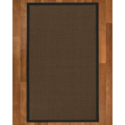 Brokaw Hand Woven Brown Area Rug Rug Size: Rectangle 6' X 9'