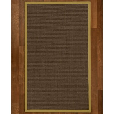 Brokaw Modern Hand Woven Brown Area Rug Rug Size: Rectangle 6 X 9