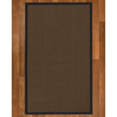 Brokaw Hand Woven Sisal Brown Area Rug Rug Size: Rectangle 4 X 6