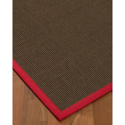 Brokaw Contemporary Hand Woven Solid Brown Area Rug Rug Size: Rectangle 4 X 6