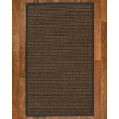 Brokaw Hand Woven Solid Sisal Brown Area Rug Rug Size: Rectangle 6 X 9