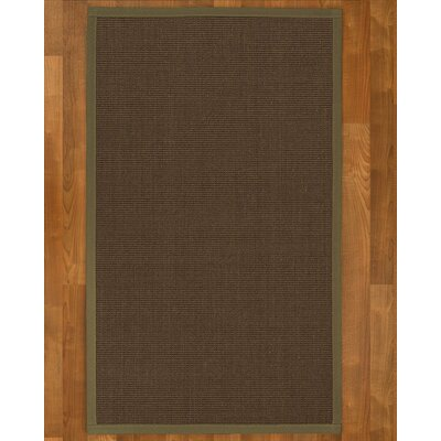 Brokaw Contemporary Hand Woven Sisal Brown Area Rug Rug Size: Rectangle 8 X 10
