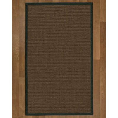 Brokaw Contemporary Hand Woven Brown Solid Area Rug Rug Size: Rectangle 4 X 6
