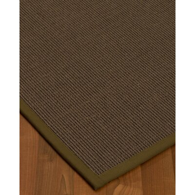 Brokaw Modern Hand Woven Solid Brown Area Rug Rug Size: Rectangle 4 X 6