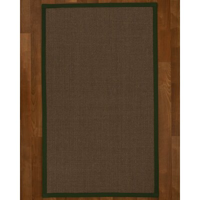 Brokaw Contemporary Hand Woven Brown Area Rug Rug Size: Rectangle 4 X 6