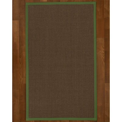 Brokaw Hand Woven Solid Brown Area Rug Rug Size: Rectangle 9 X 12