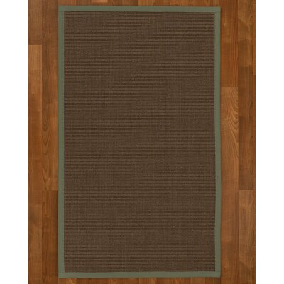 Beck Solid Hand Woven Brown Area Rug Rug Size: Rectangle 4 X 6