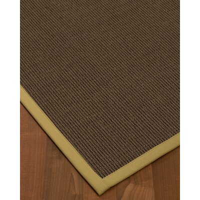 Beck Hand Woven Brown Jute/Sisal Area Rug Rug Size: Rectangle 9 X 12