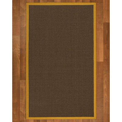 Beck Hand Woven Brown Area Rug Rug Size: Rectangle 4 X 6