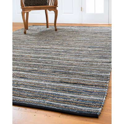 Navarre Hand-Loomed Blue/Brown Area Rug Rug Size: Rectangle 6 x 9