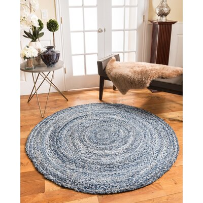 Brasilia Cotton Hand Woven Natural Area Rug Rug Size: Round 6