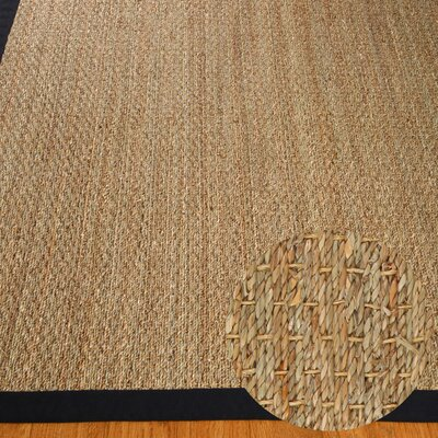 Alland Handmade Black/Tan Area Rug Rug Size: Rectangle 9 x 12