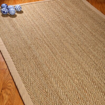 Alland Hand-Woven Sage/Khaki Area Rug Rug Size: Rectangle 5 x 8