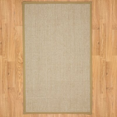 Sage/Khaki Edge Rug Rug Size: Rectangle 6 x 9