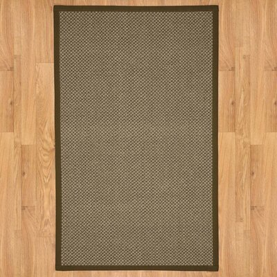 District Brown Area Rug Rug Size: 4 x 6