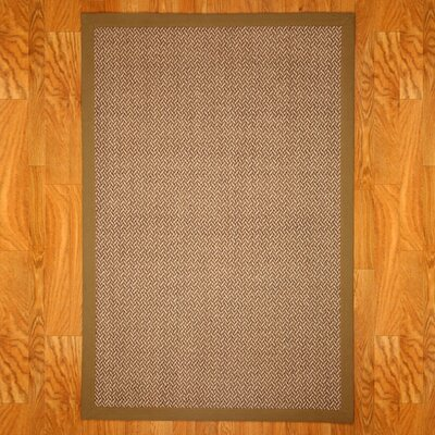 India Brown/Beige Area Rug Rug Size: Rectangle 9 x 12