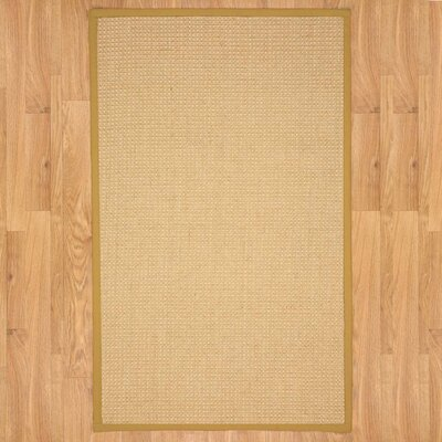 Natural Fusion Gold Area Rug Rug Size: Rectangle 3' x 5'