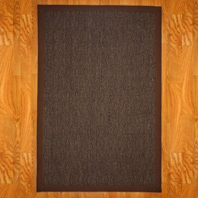 Gallia Brown/Tan Area Rug Rug Size: 9 x 12