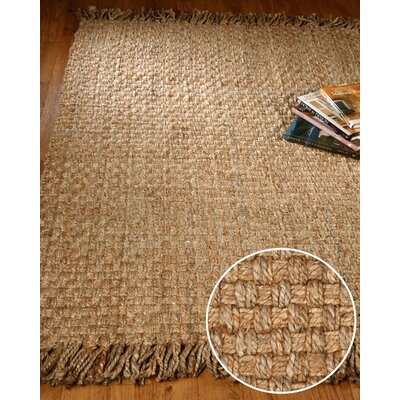 Carlisle Hand Woven Brown/Tan Area Rug Rug Size: Rectangle 6 x 9