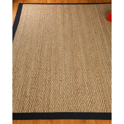 Damariscotta Black/Tan Area Rug Rug Size: Rectangle 8 x 10