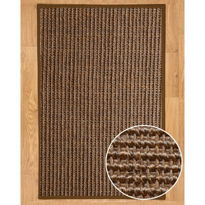 Linden Hand-Woven Brown Area Rug Rug Size: Rectangle 3 x 5