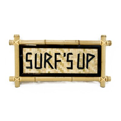 Bamboo - Surf's Up Garden Sign BAMA-BAMBOOSIGN:SURFS UP