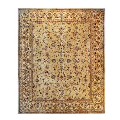 Drexel Heritage Hand-Tufted Beige/Brown Area Rug Rug Size: 79 x 99