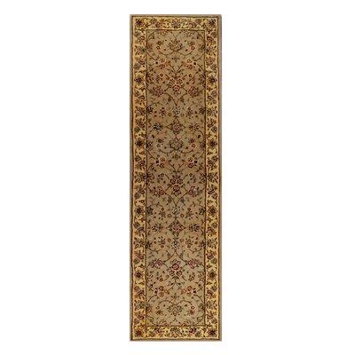 Drexel Heritage Hand-Tufted Beige/Brown Area Rug Rug Size: Runner 2 x 76