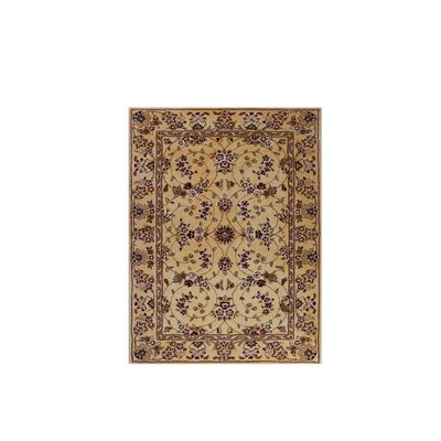 Drexel Heritage Hand-Tufted Beige/Red Area Rug Rug Size: 3 x 46